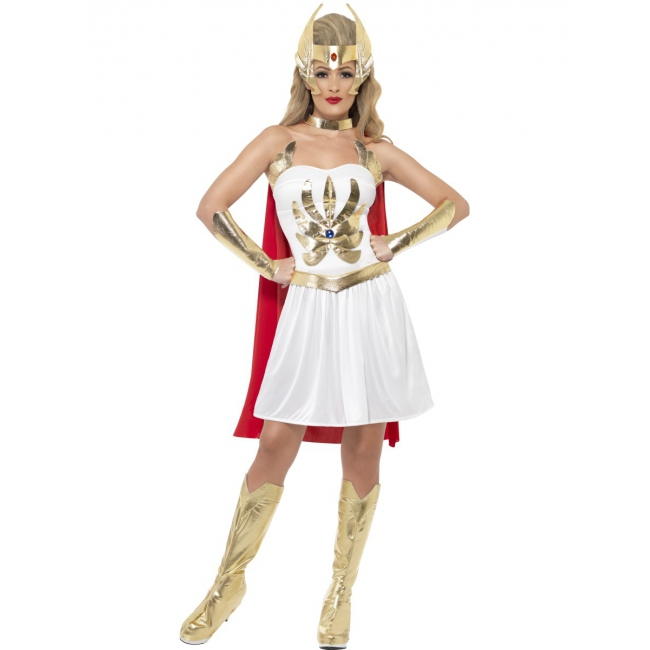 She Ra cartoon kostuum voor dames Smiffy