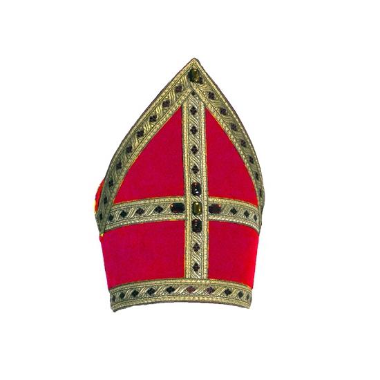 Sinterklaas mijter fluweel 57 cm FopartikelenWinkel