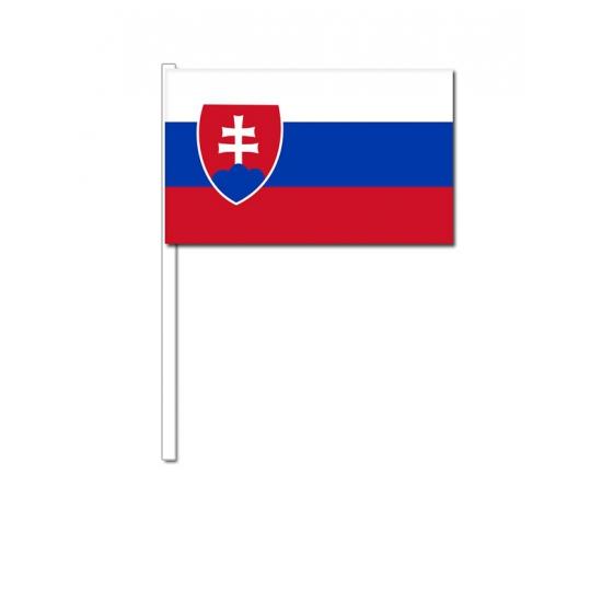 Slowakije zwaai vlaggetjes 12 x 24 cm