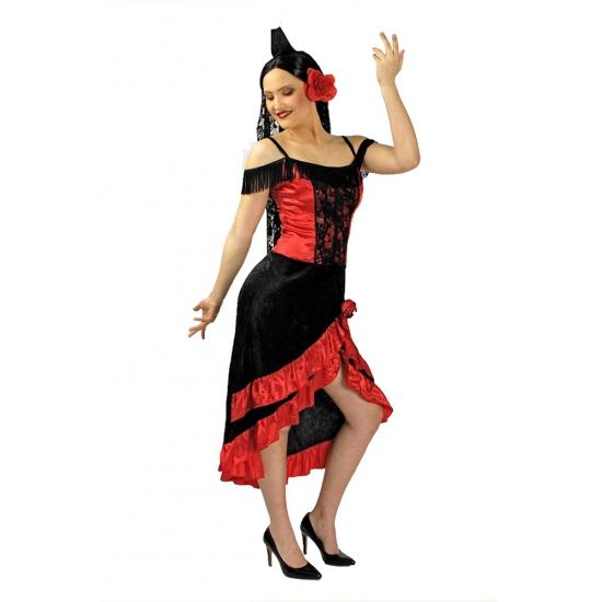 Spaanse jurk voor vrouwen incl. sluier