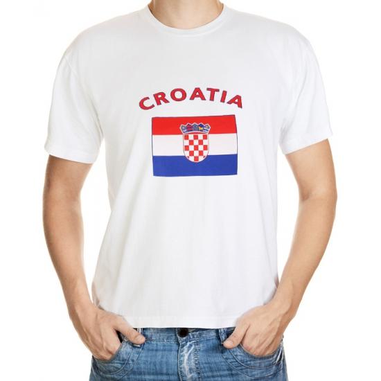 T-shirts met Kroatische vlag print