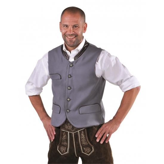 Tiroler vest voor heren grijs FopartikelenWinkel