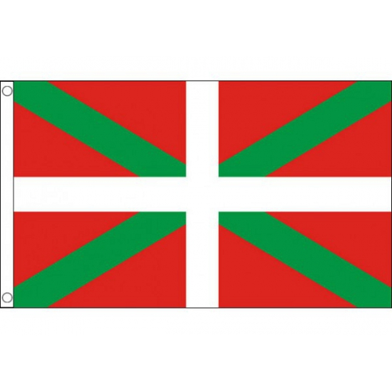 Vlag Baskenland met ringen 90 x 150 cm