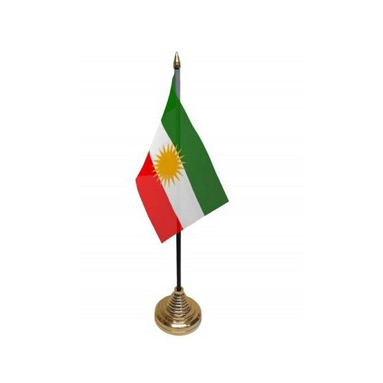 Vlaggen op standaard Koerdistan