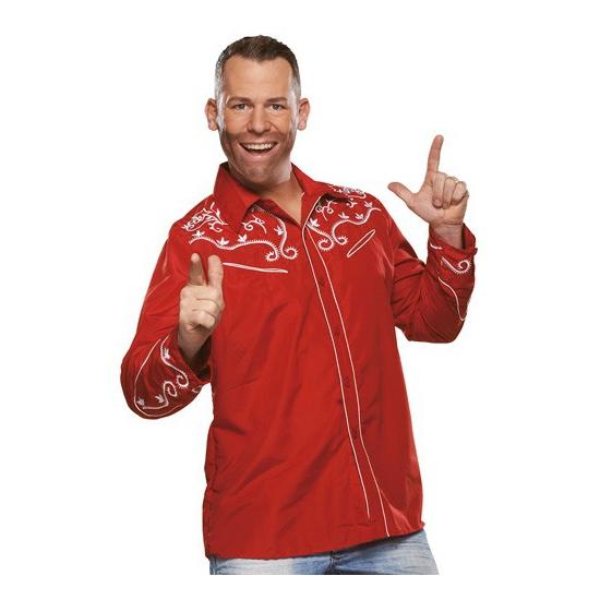 Western overhemd rood voor heren
