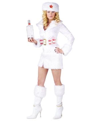 Wit dames jurkje met nep bont FopartikelenWinkel