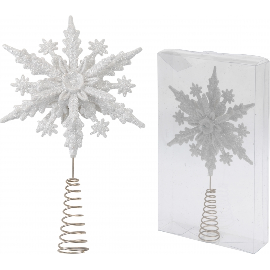 Witte glitter piek sneeuwvlok