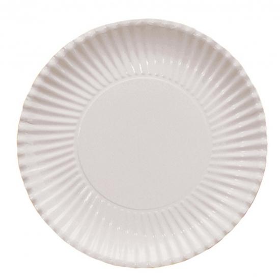 Witte kartonnen bordjes 29 cm
