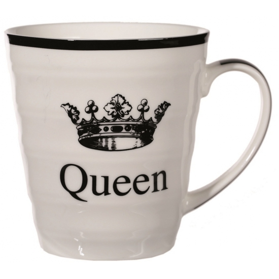Witte koffie mok Queen