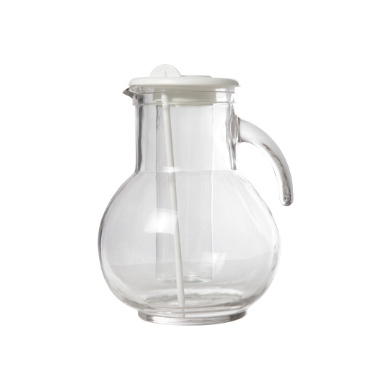 Witte waterkan met koelfunctie