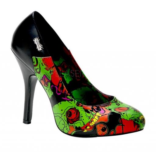 Zombie thema pumps groen voor dames FopartikelenWinkel