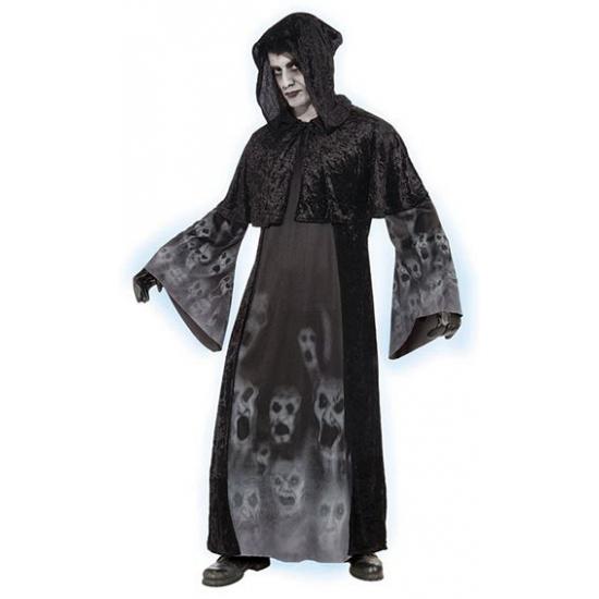 Zwart verkleed kostuum met spoken