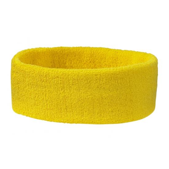 Zweetbandjes haarbandjes goudgeel