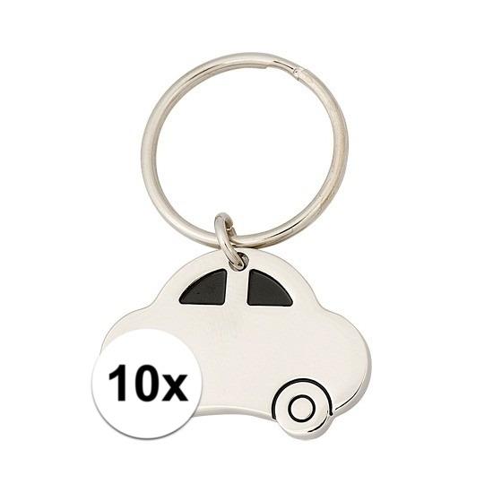 10x Nieuwe auto cadeau sleutelhanger