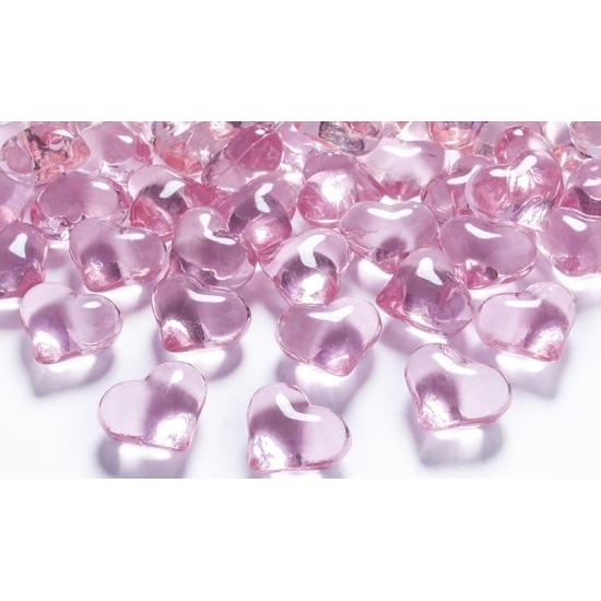 30 hart diamanten lichtroze 2 cm
