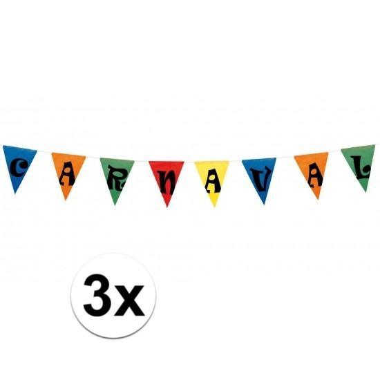 3x Carnaval versiering 10 meter