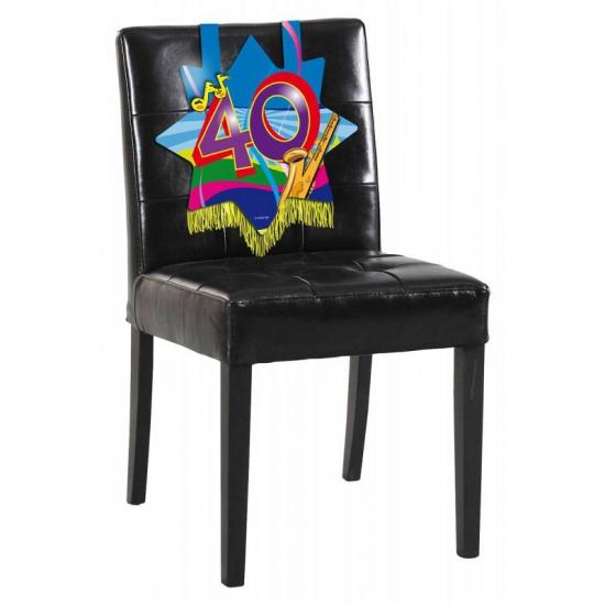 40 jaar verjaardags bord voor op een stoel