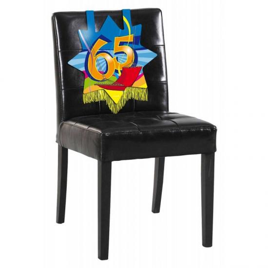 65 jaar verjaardags bord voor op een stoel