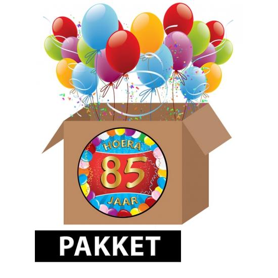 85 jaar feest versiering voordeelbox