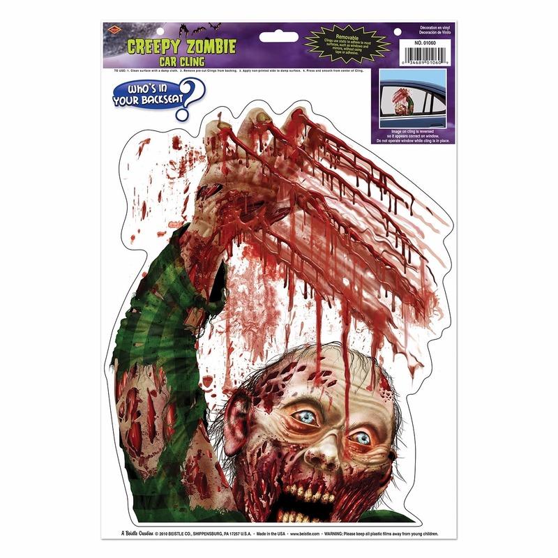 Autoraam Halloween stickers zombie