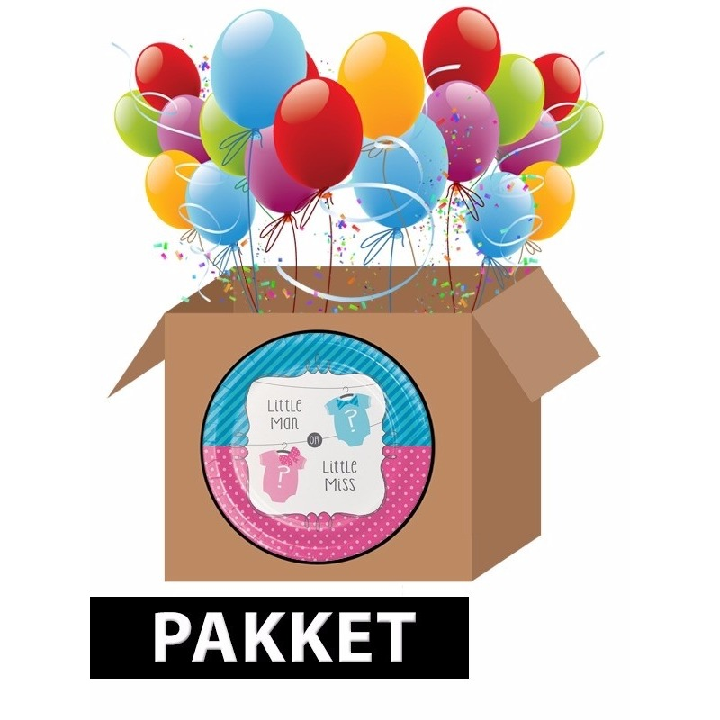 Babyshower feestpakket gender reveal