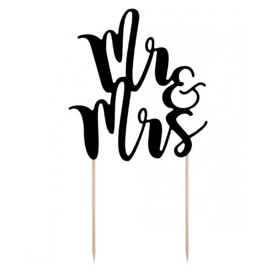 Bruidstaart topper Mr & Mrs