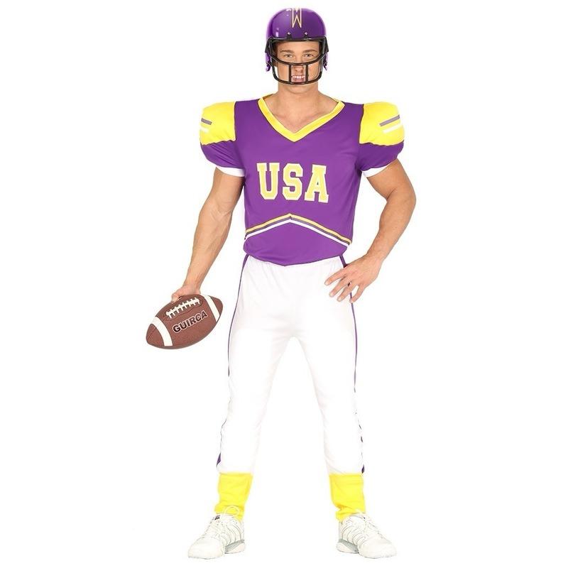 Carnavals kostuum Rugby speler voor heren