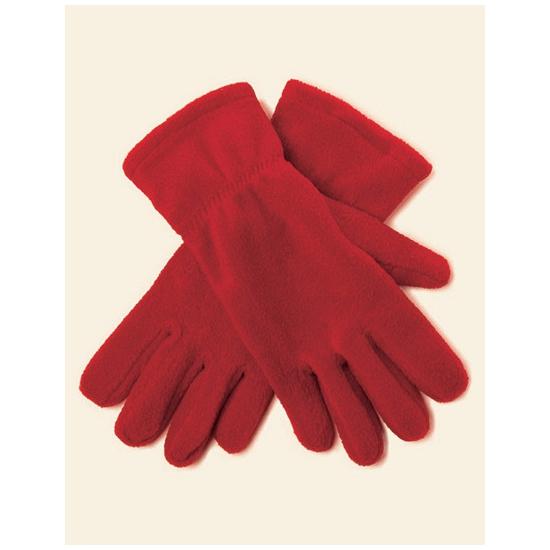 Dames fleece handschoenen rood