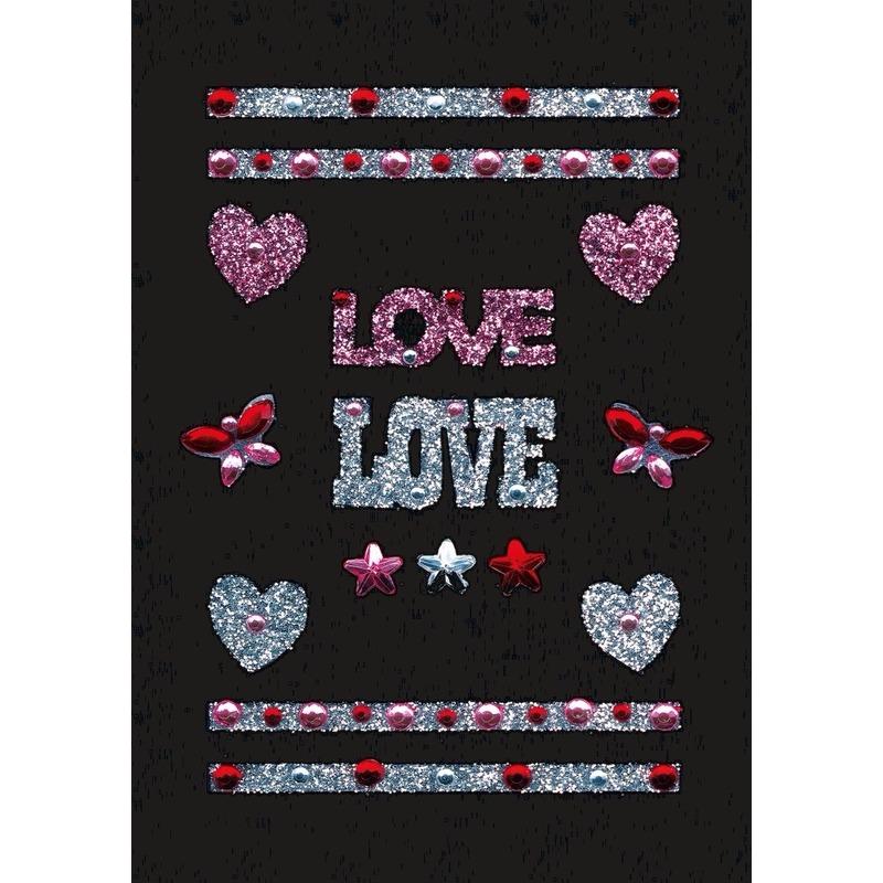 Decoratie glitter stickers love