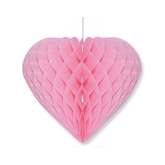 Etalage decoratie hart lichtroze 28 x 32 cm