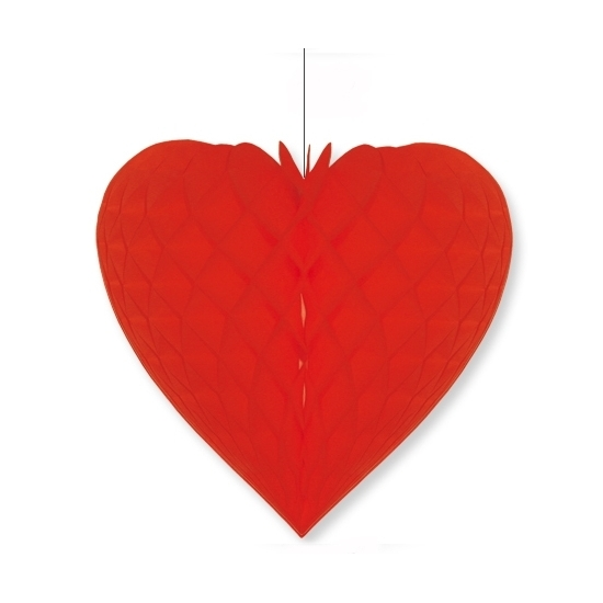 Etalage decoratie hart rood 28 x 32 cm
