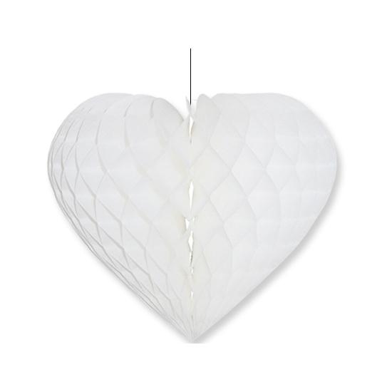 Etalage decoratie hart wit 40 x 44 cm