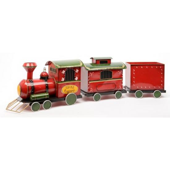 Etalage decoratie kerst trein 132 cm