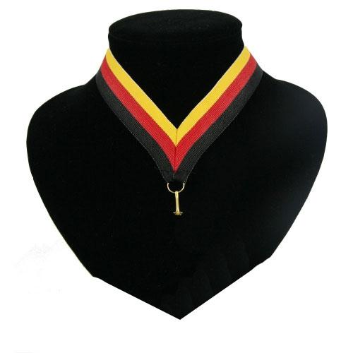 Fan medaille lint zwart rood en geel n 0 50 - Eetkamer rood en zwart ...