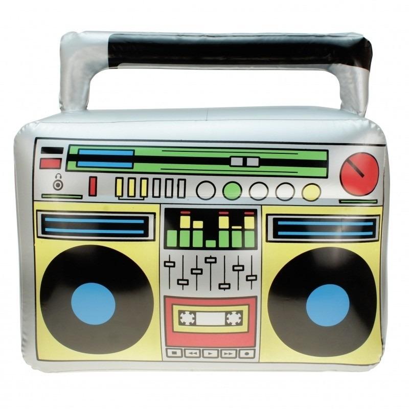 Feest decoratie opblaasbare radio 44 cm