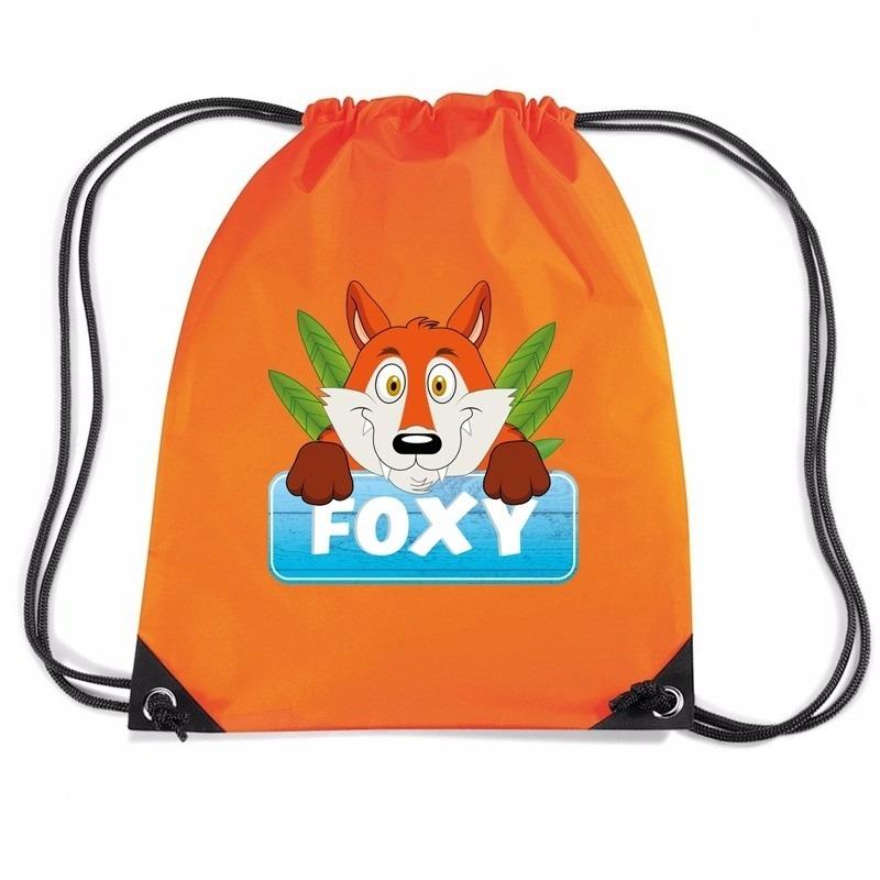 Foxy de Vos rugtas / gymtas oranje voor kinderen