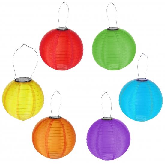 Gekleurde solar lampion 30 cm