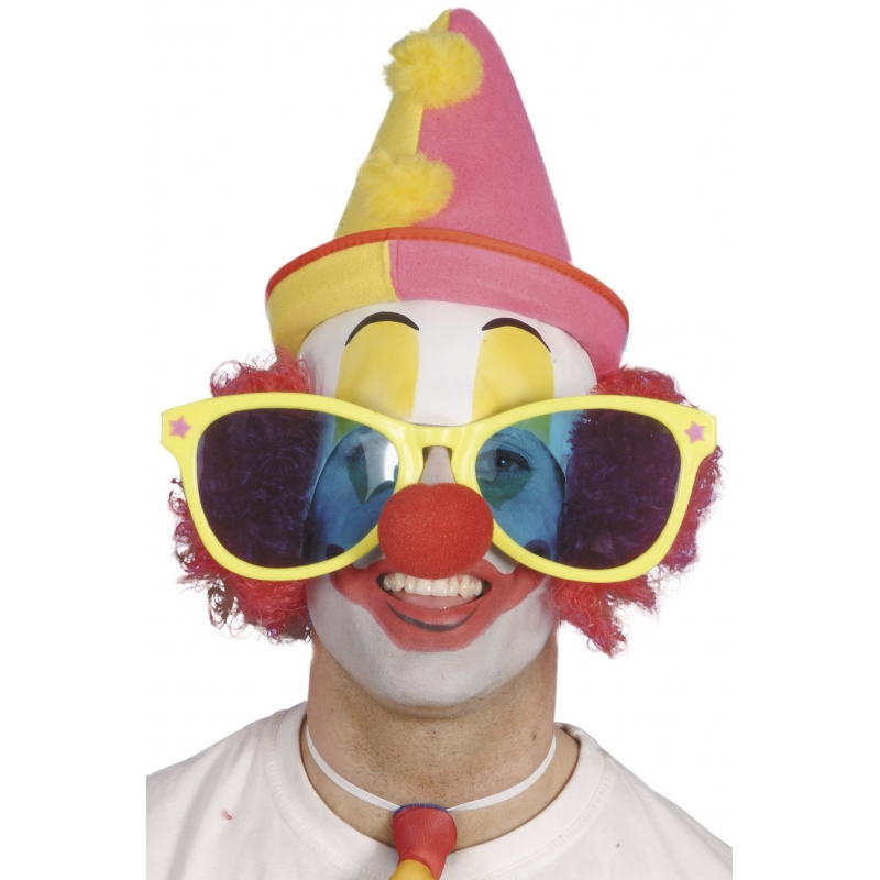 Hele grote zonnebril Clown