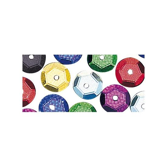 Hobby pailletten multicolor 6 mm