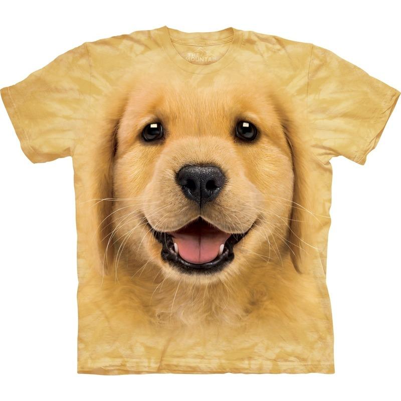 Honden T-shirt Golden Retriever puppy voor kinderen