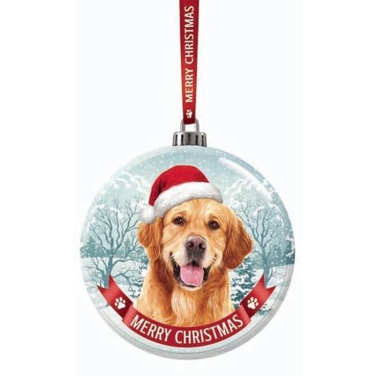 Huisdieren kerstballen honden Golden retriever 7 cm van glas