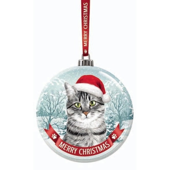 Huisdieren kerstballen katten-poezen Britse korthaar 7 cm van glas