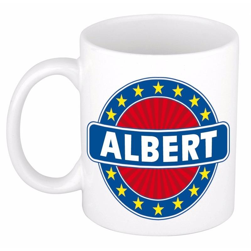 Kado mok voor Albert