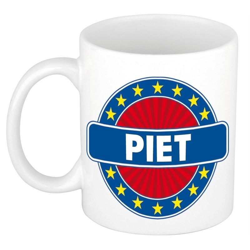 Kado mok voor Piet