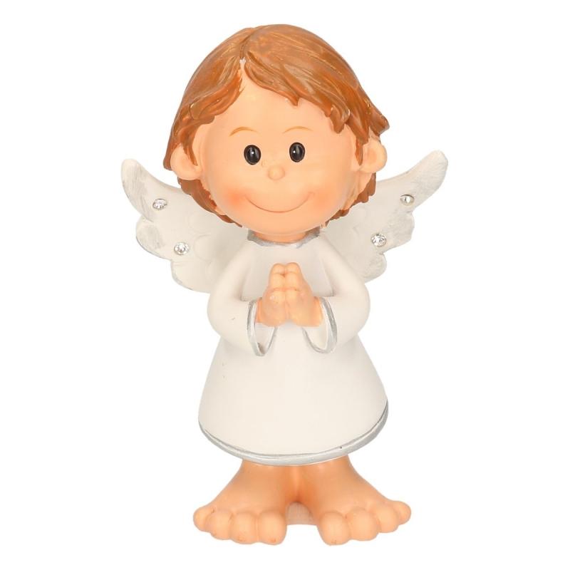 Kerst decoratie engel biddend