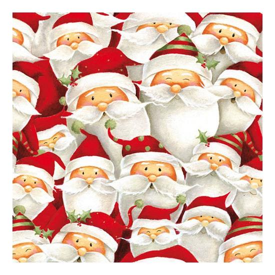 Kerstmannetjes servetten 20 stuks. papieren servetten bedrukt met plaatjes van kerst mannetjes. de servetten ...