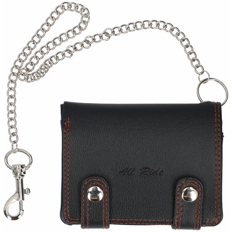 474bfd4f6f6777 Portemonnee portefeuille zwart met ketting. de portemonnee bevat divers  vakjes voor papiergeld
