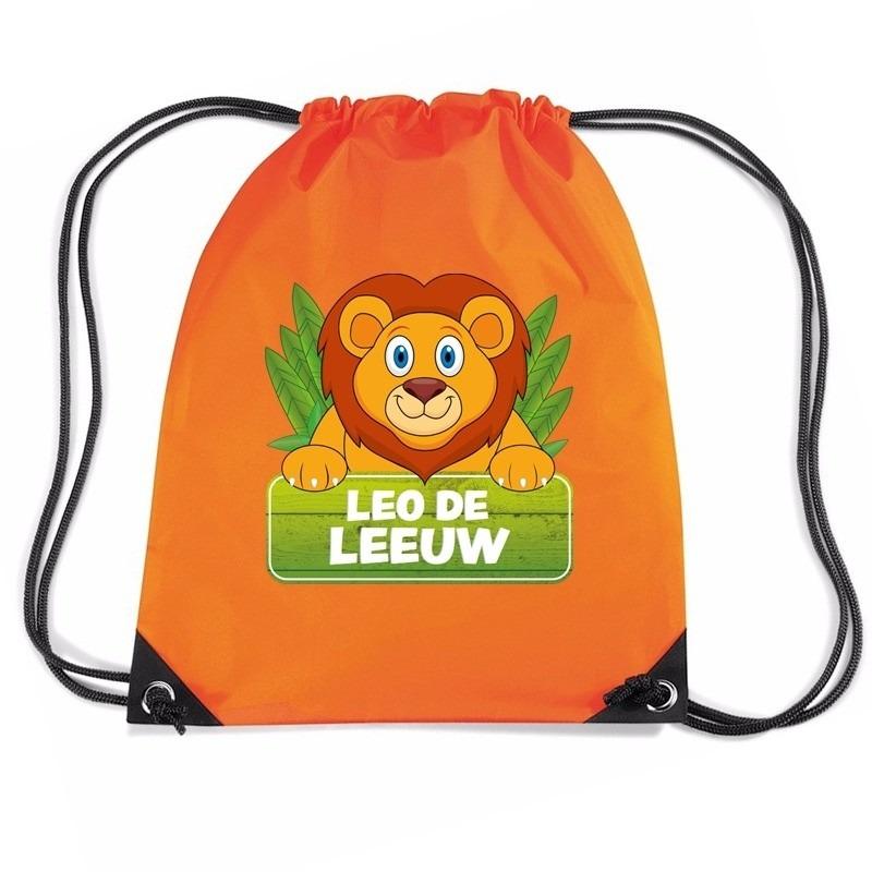 Leo de Leeuw rugtas / gymtas oranje voor kinderen