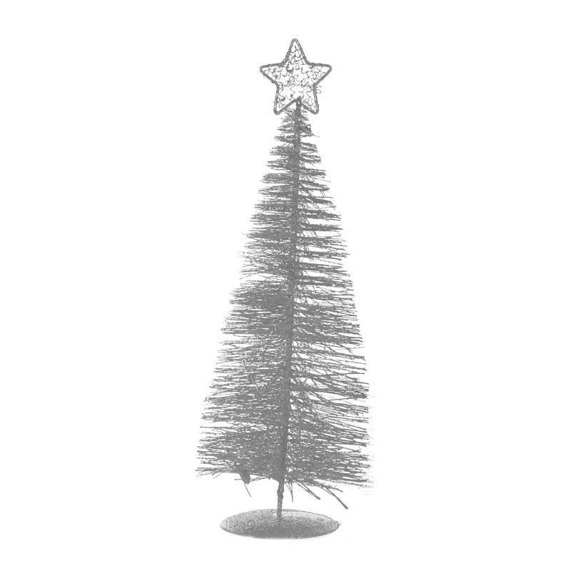 Mini zilveren kerstboom 21 cm