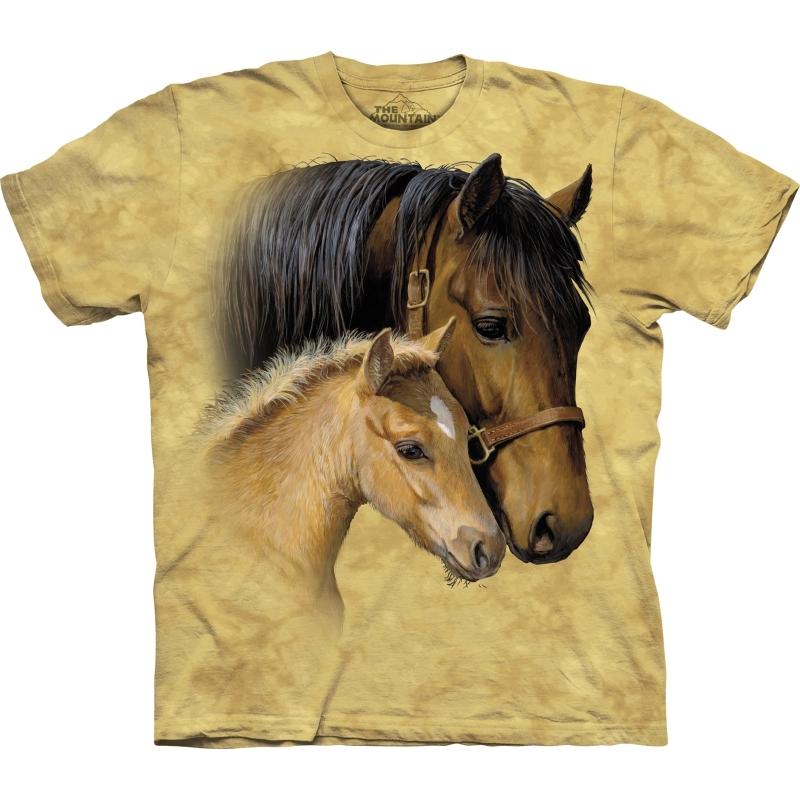 Paard met veulentje shirt The Mountain